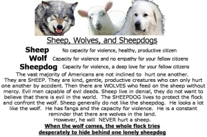 Sheep Wolves and Sheepdog